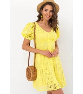 Платье Эдна YE, короткое желтое платье
