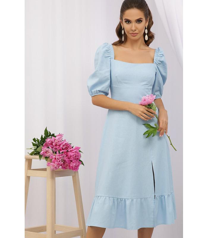 Сукня Коста-Л BB, блакитне плаття з льону