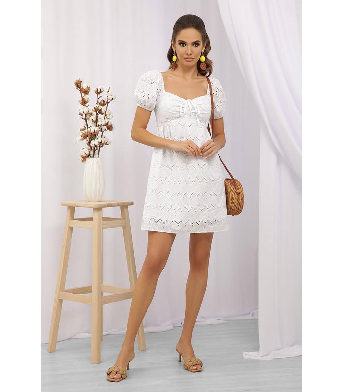 Платье Луна, белое мини платье