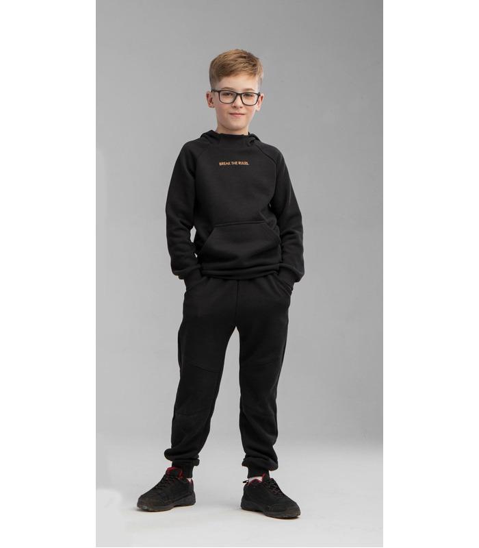 Детские штаны ШР718 CH, черные спортивные штаны