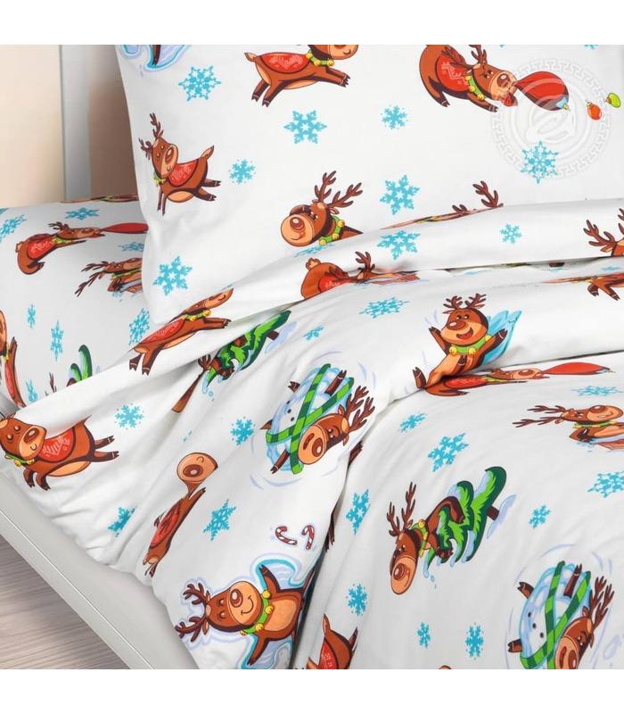 """Детское постельное белье """"Оленята"""" ᐉ натуральная ткань поплин, пошито в Украине"""