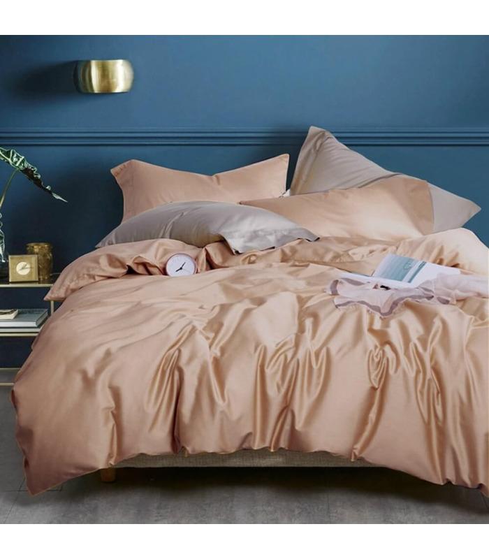 Комплект постельного белья Frappe №165 ᗍ сатин ※ Украина, натуральная ткань