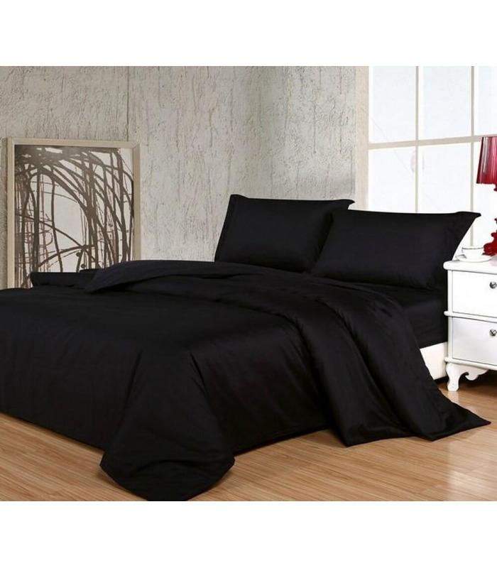 Комплект постельного белья Black №055 ᗍ сатин ※ Украина, натуральная ткань