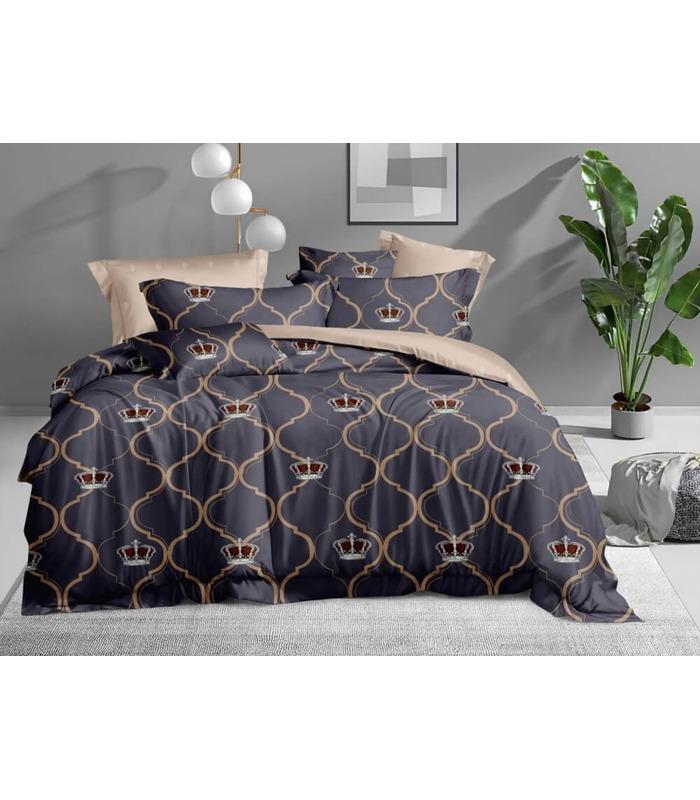 Комплект постельного белья Кинг ᗍ сатин ※ Украина, натуральная ткань