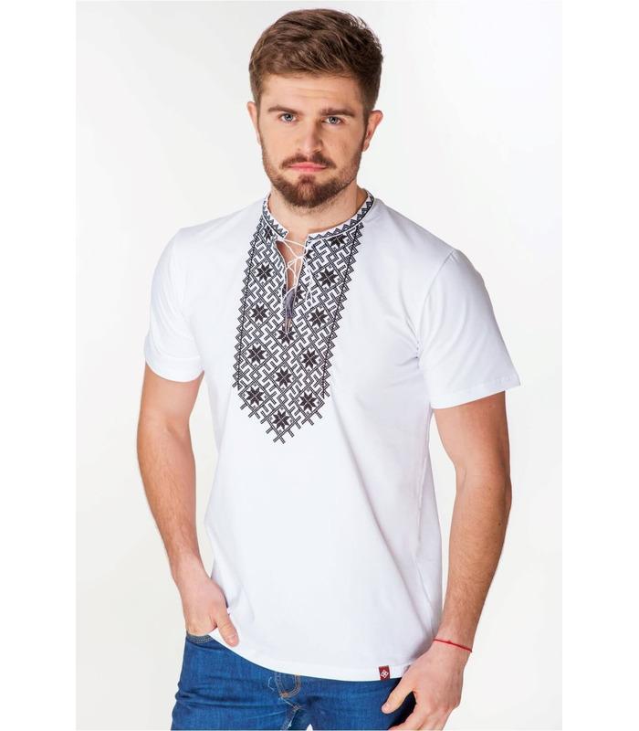 Мужская вышитая футболка мод.064