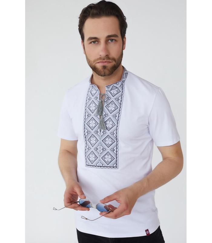 Мужская вышитая футболка мод.084