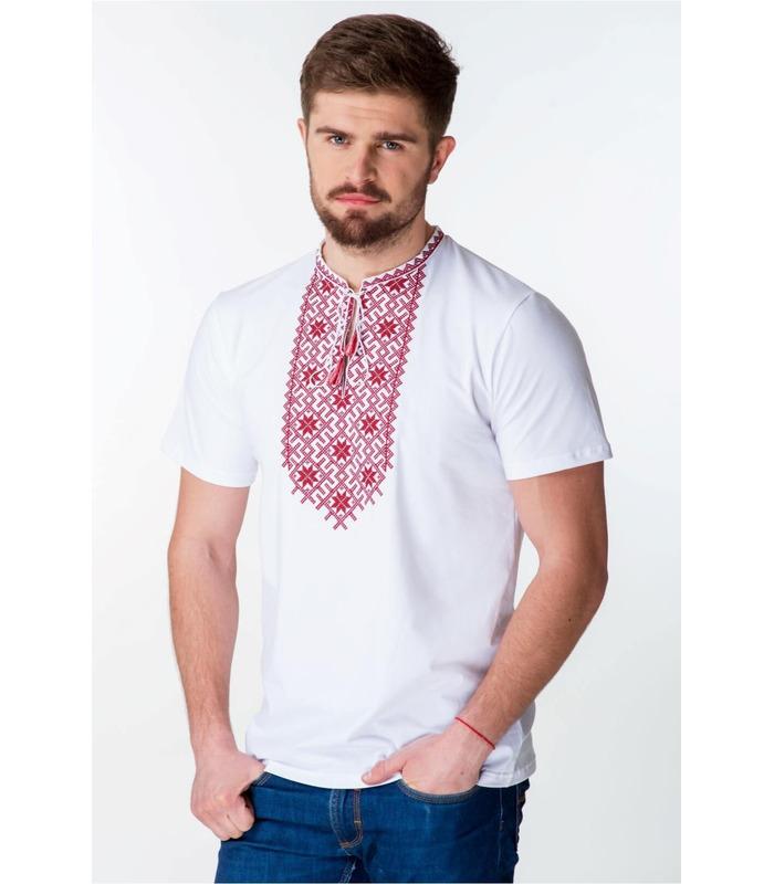 Мужская вышитая футболка мод.063