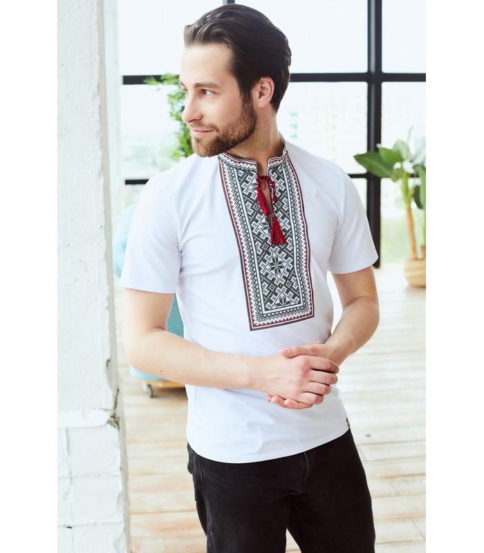 Мужская вышитая футболка мод.107
