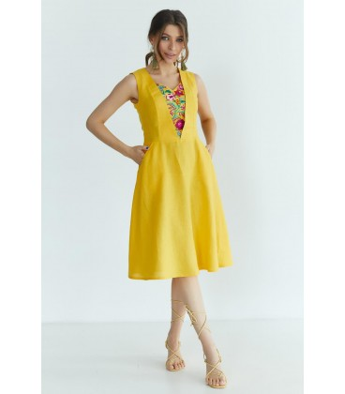 Вышитое платье мод.5032