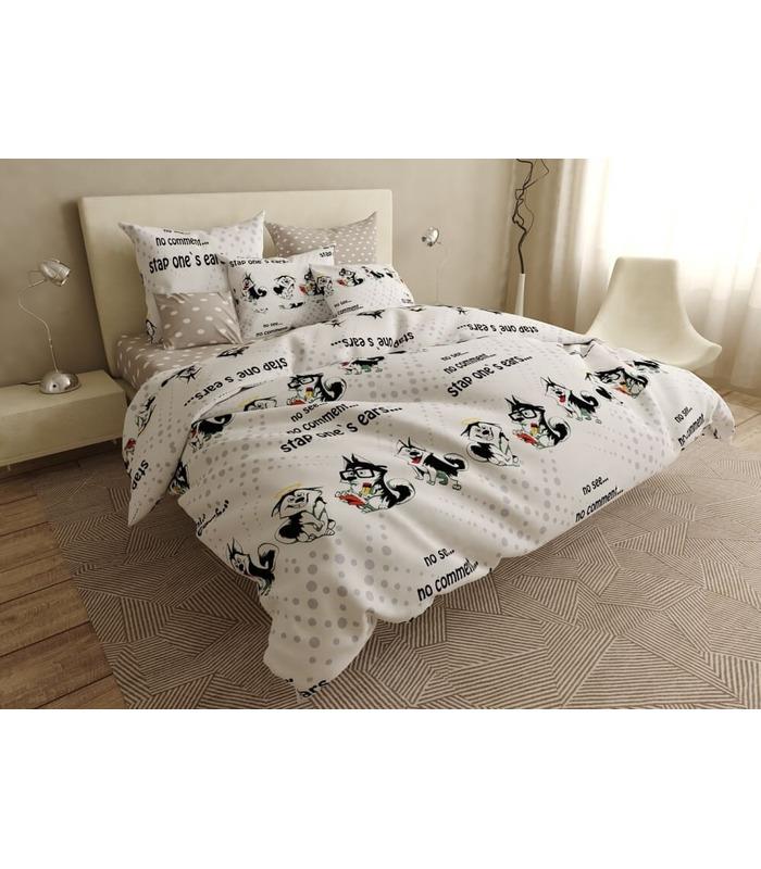 Комплект постельного белья Симпатяга ᗍ сатин ※ Украина, натуральная ткань