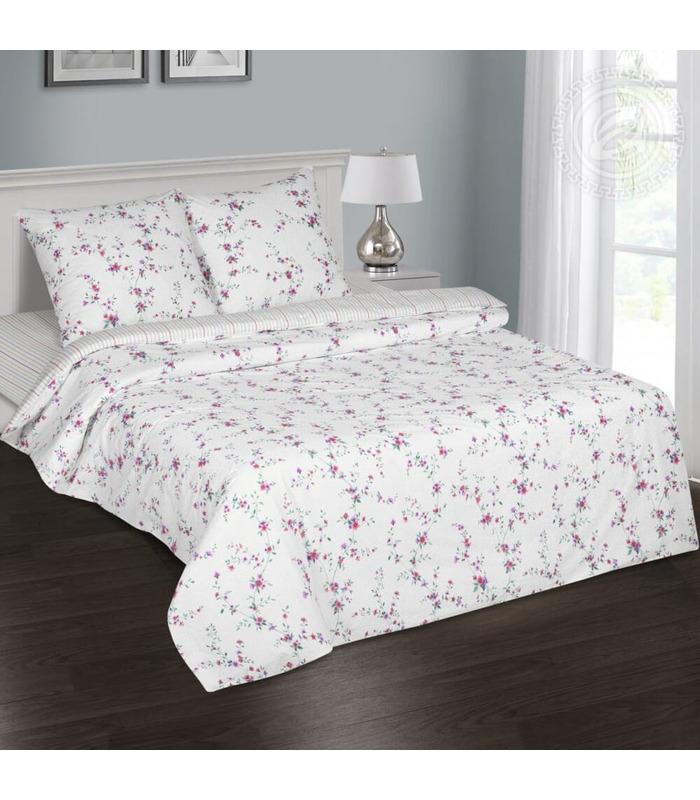 Комплект постельного белья Нежные цветы ᐉ качественный поплин, доступная цена ※ Украина