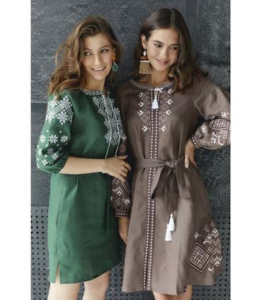 Вишитое льняное платье мод.020