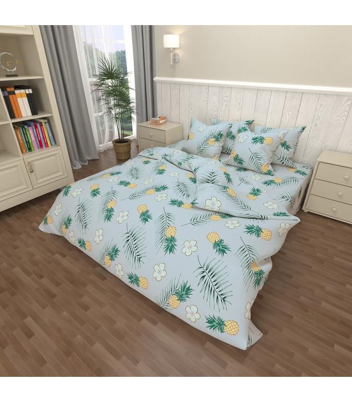 Постельное белье Pineapple gray ᗍ бязь. Пошито в Украине ᗈ натуральная ткань | МамаТато