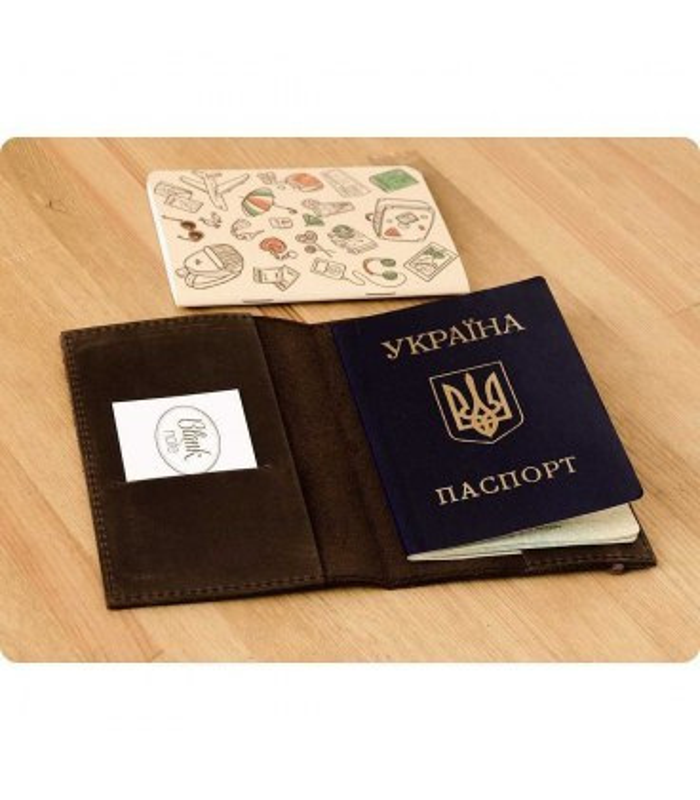 Обкладинка для паспорту 1.0 Горіх.
