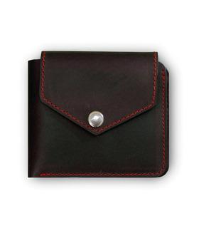 Портмоне 4.2 (4 кармани і на кнопці) Графіт-полуниця