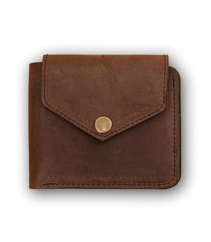 Портмоне 4.2 (4 кармани і на кнопці) Горіх
