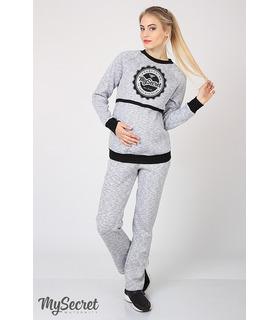 Теплі спортивні штани Плеже меланж GR